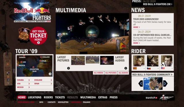 Red Bull X-Fighters 2009: online il nuovo sito