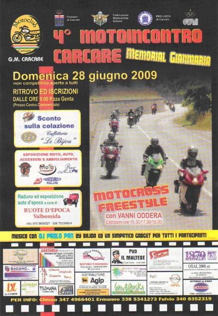 Locandina Motoincontro 28 giugno 2009 Carcare (SV)